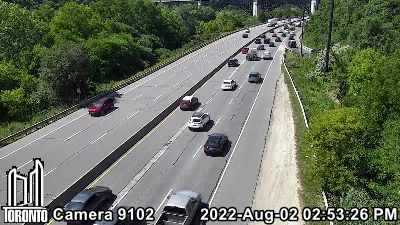 Webcam of Don Valley Parkway at Danforth