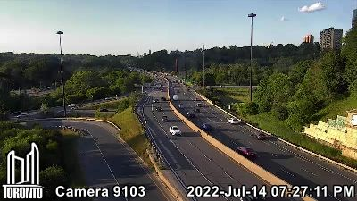Webcam of Don Valley Parkway at Bloor