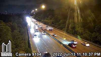 Webcam of Don Valley Parkway at Beechwood