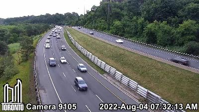 Webcam of Don Valley Parkway at Millwood
