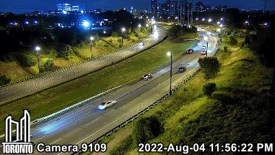 Webcam of Don Valley Parkway at Spanbridge