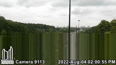 Don Valley Parkway at CP Rail Bridge for MORE DVP Cameras - CLICK HERE!