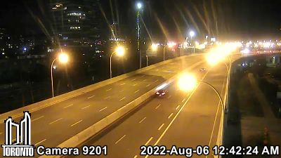 Webcam of Gardiner Expressway at Parliament Street