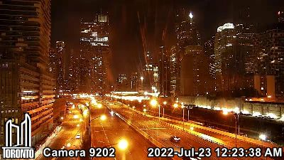 Webcam of Gardiner Expressway at Jarvis