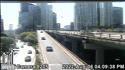 Webcam of Gardiner Expressway at Spadina