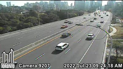 Webcam of Gardiner Expressway at Strachan