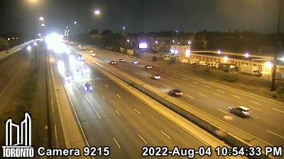 Webcam of Gardiner Expressway at Grand Avenue