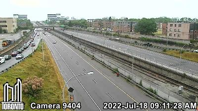 Webcam of Allen Expressway at Lawrence Avenue West
