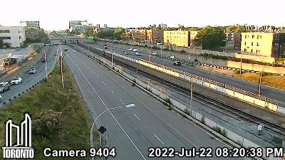 Webcam of Allen Expressway at Lawrence Avenue West